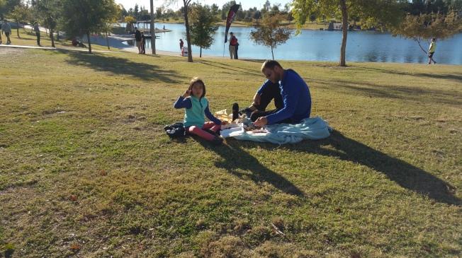 Enjoying a picnic on a Sunday afternoon