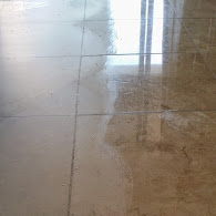 Removing crystallization on travertine